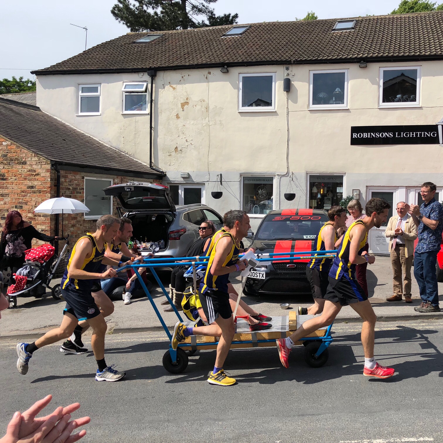 Bed Race Running